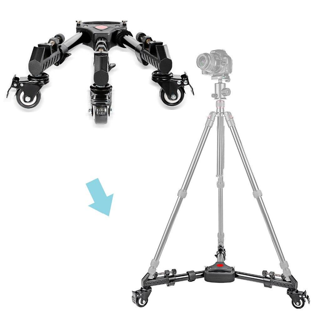 Neewer fotografía profesional trípode de cámara plegable Universal Dolly Base con ruedas de goma para Canon Nikon DSLR Video