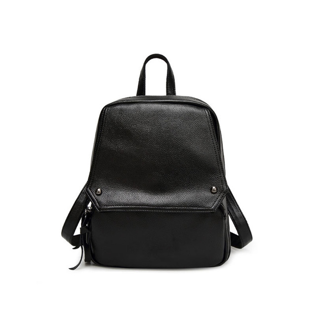 Joker Leather Rucksacks Ladies Daily Cute Backpack Chic Book Bags Rivet Backpacks Small Simple Shopping