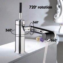 Chrom Waschbecken Becken Deck Montiert für Küche Bad Wasserhahn Swivel 360 Messing Hot & Kaltwasser Torneiras Cozinha Mischbatterie wasserhahn