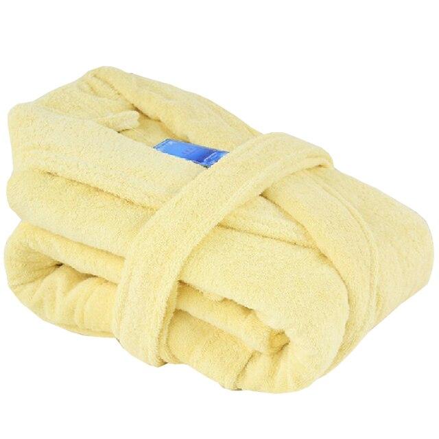 free shipping 100% cotton robe female thickening 100% cotton bathrobes male women's lovers bathrobe