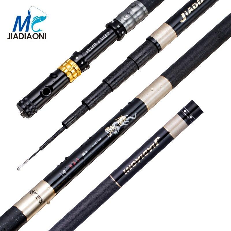 JIADIAONI 99%Carbon 3.6M 4.5M 5.4M 6.3M Long Telescopic Fishing Rod Fly Fishing Hollow Rod Carp Fishing Tackle Products China