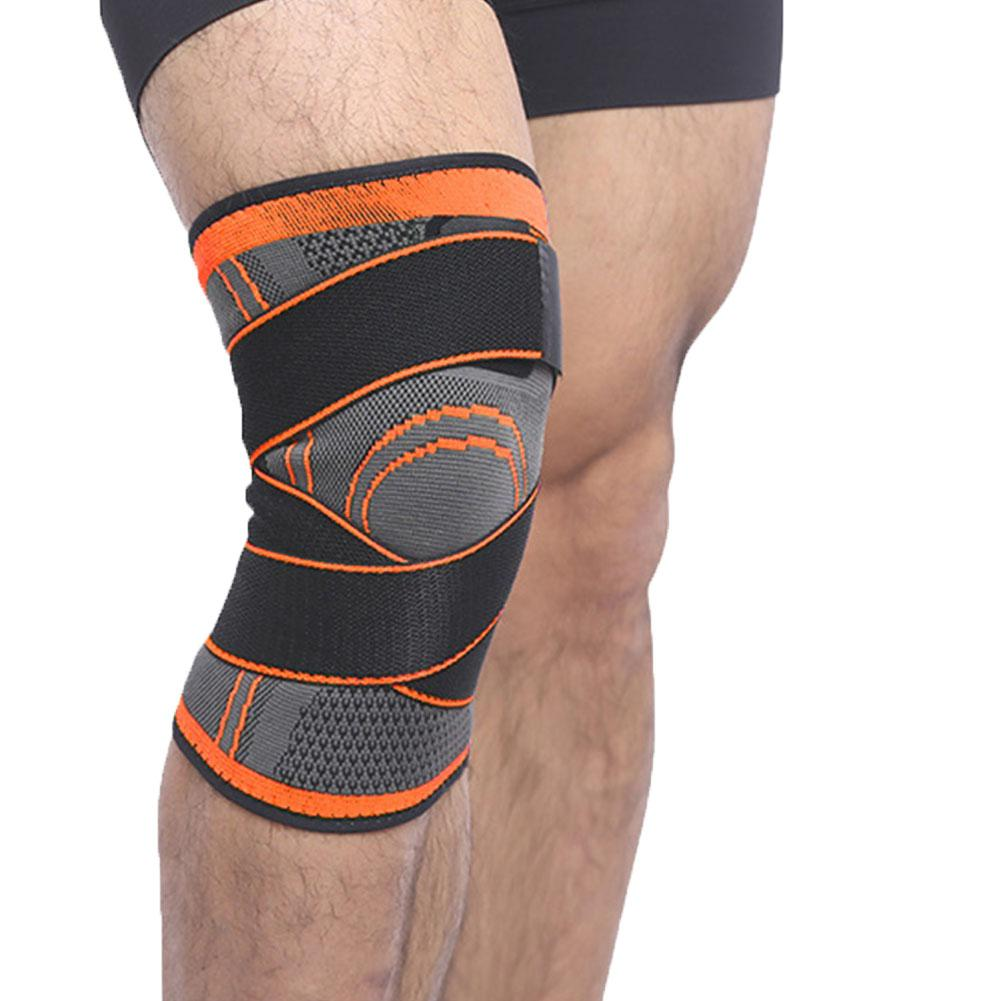 HobbyLane 1PCS 2019 Knee Support Professional Protective Sports Knee Pad Breathable Bandage Knee Brace Basketball Tennis Cycling in Elbow Knee Pads from Sports Entertainment