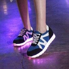 Fashion Men LED Shoes With Led Lights Shoes For Adults 2016 High Quality Usb Glow Led Light Luminous Zapatillas De Luces