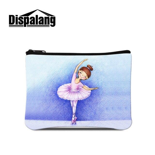 Dispalang Cute Ballet Girls Coin Purse Women Small Wallets Ladies Mini Credit Card Change Purses Kids Storage Bags Zipper Bags