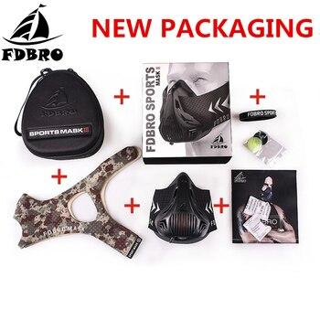 FDBRO Спортивная маска 3,0 Training высота Фитнес тренировочная маска работает катание на велосипеде, пробежка кардио тренажерный зал дыхательные ...