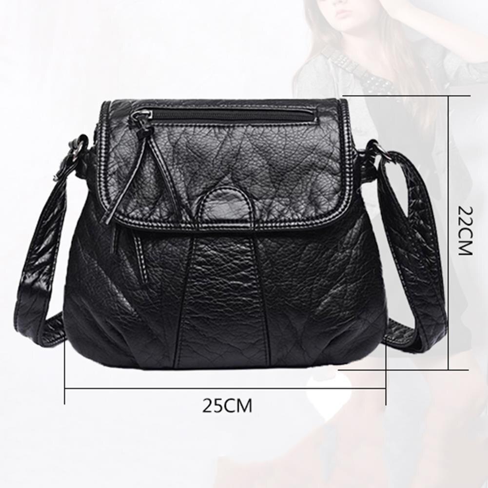 Neue mode Schulter Tasche Retro Einfache Tasche Leder Handtasche Weiche Gewaschen Wilde Weibliche Modelle Diagonal Paket Kleinen Platz Paket