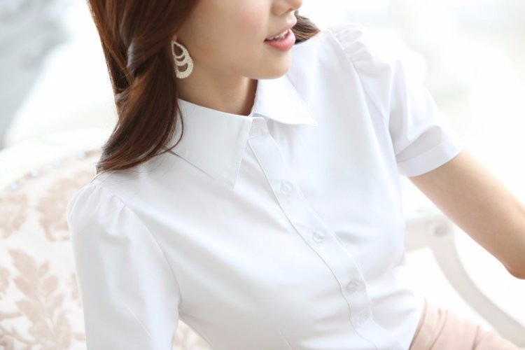 HTB14.wTLXXXXXX8XVXXq6xXFXXX7 - Casual Blouse Long Sleeve Femininas Ladies Work Wear Tops Shirt