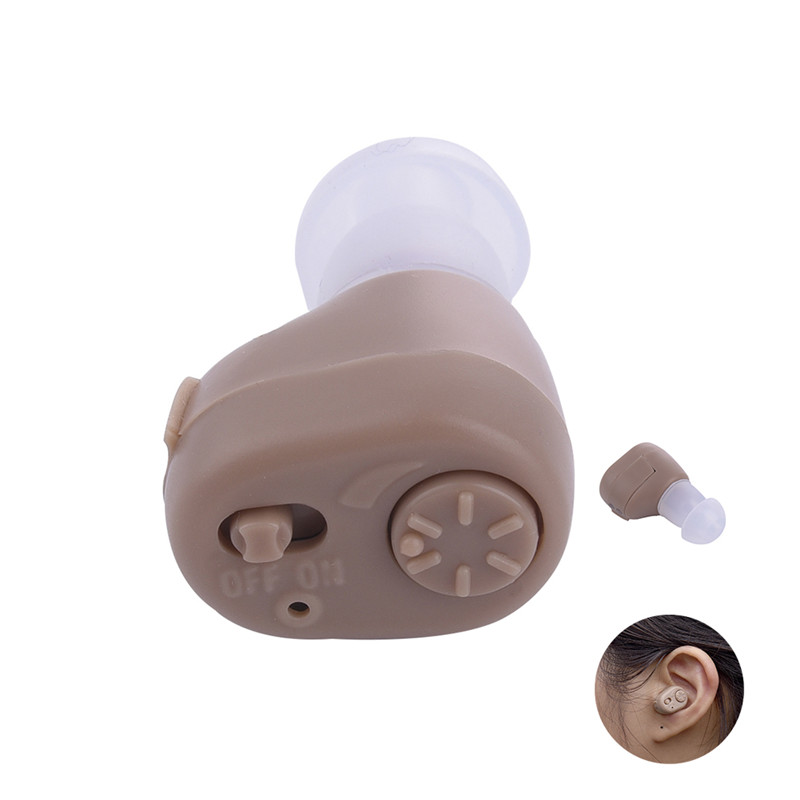 Portable Hearing Aid Voice Volume Adjustable Sound Amplifier Severe Hearing Loss Hearing Aid Machine with Earplug Ear Care 5