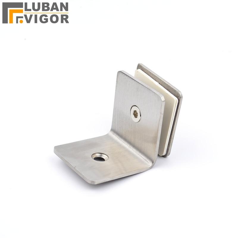 fa3be53e89 90 gradi in acciaio inox morsetto di vetro, singola clip di fissaggio,  doccia,