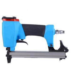 Image 3 - U type Pneumatic Air Stapler 13mm Nailer Fine Stapler Tool Furniture Blue Nailer Woodworking Pneumatic Air Power Gun Riveter