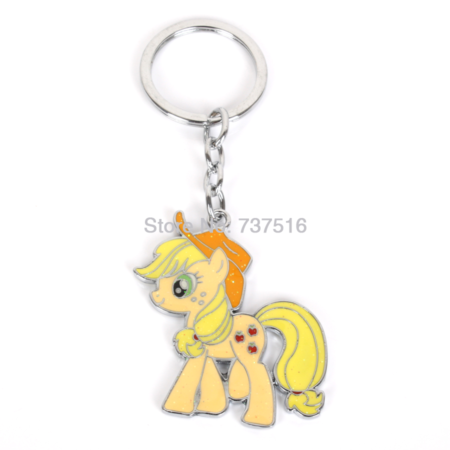 New Arrived Friendship Yellow is Magic Cute Applejack Horse Collection Metal Product Unisex Gifts
