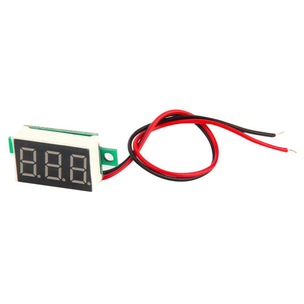 2017 nový digitální LCD voltmetr voltmetr voltimetro červená LED - Měřicí přístroje - Fotografie 2