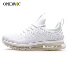 Onemix Men Running Shoes White Sneakers Damping Sports Shoes Outdoor Llight Sneaker for Men High Top Athletic Jogging Shoes xtep women s luminous light running shoes damping anti slip athletic sneaker air outdoor sports shoes free shipping 984318116160