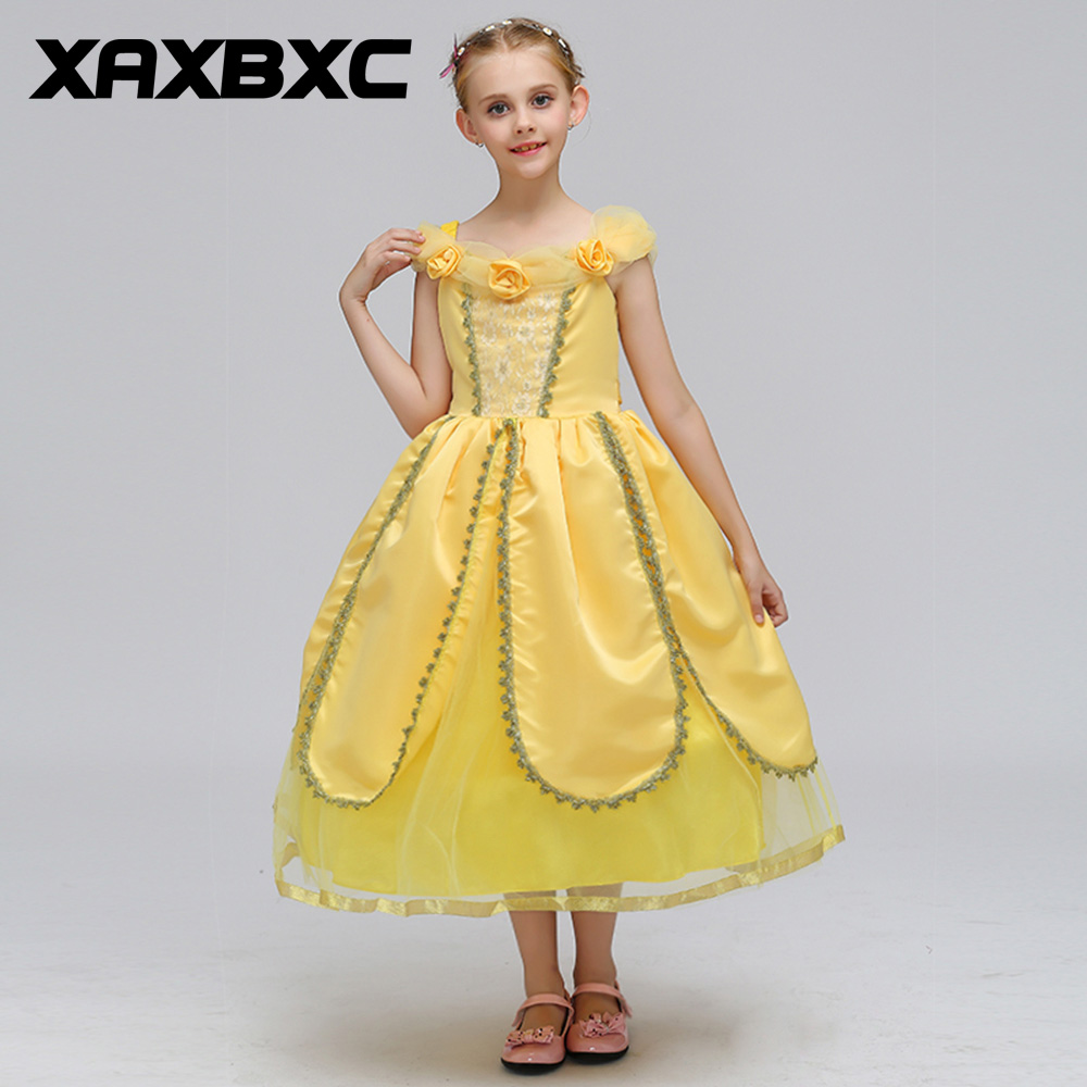 Retro Lace Princess Dresses Kids Prom Gown Evening Dresss Wedding Party Dress Girls Clothes Tulle Children's Costume SMR019 teenage girl party dress children 2016 summer flower lace princess dress junior girls celebration prom gown dresses kids clothes