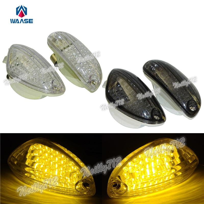 Motorcycle Flush Mount LED Turn Signals Indicator Blinker For Suzuki GSX-R600 750 1000 DL650//1000 Bandit 600S 1200S 1250S Smoke