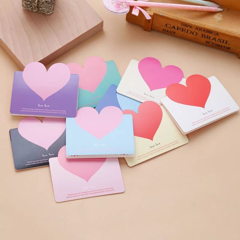 5pcs Love Heart Kraft Paper Greeting Postcards Wishes Envelope For DIY Festival Greet Cards Gift Stationery Supplies