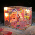 D019 Кукольный Дом Diy Миниатюре Деревянные Кукольные Домики Мебель Миниатюрный спальня Кукольный Игрушки Модели Игрушки Рождественские Подарки