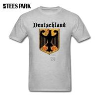 Normal T Shirts Deutschland Flag Crest Germany Eagle Soccer Football Hombre O Neck Short Sleeve Shirt