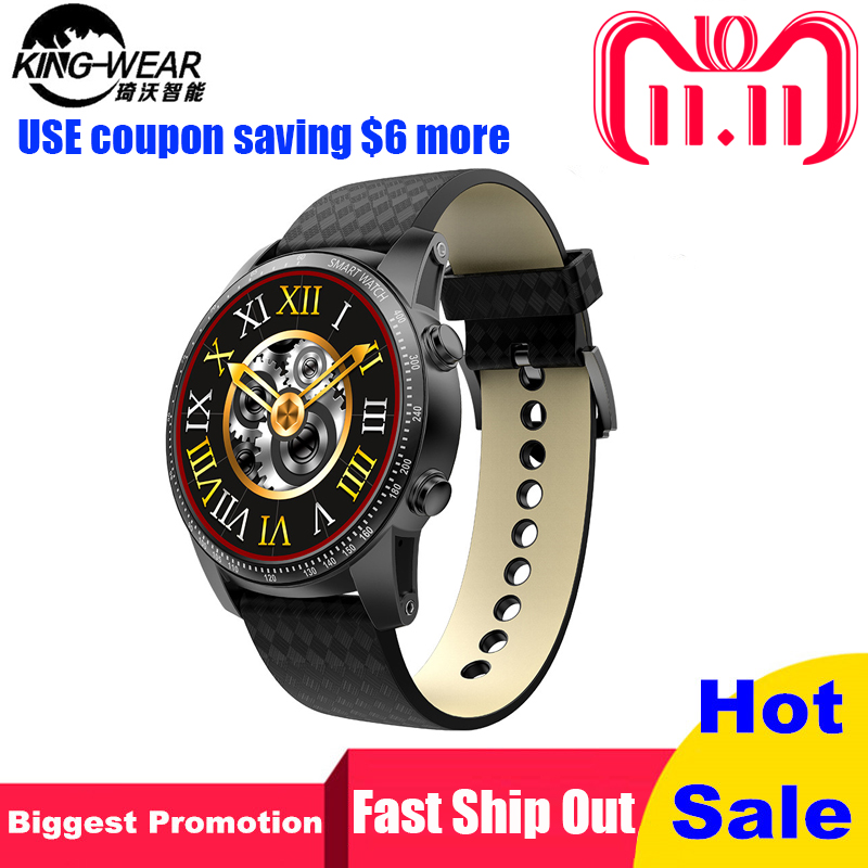 KINGWEAR KW99 Smartwatch Android 5.1 Heart Rate Monitor 1.39 Inch MTK6580 Quad Core 1.3GHZ 3G Smart Watch Men 512MB 8GB PK KW88 jrgk kw99 3g smartwatch phone android 1 39 mtk6580 quad core heart rate monitor pedometer gps smart watch for mens pk kw88