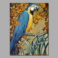 Animal Decoration Blue Peacock Forest Bird Wall Art Pictures Flowers Tree Canvas Painting For Living Room