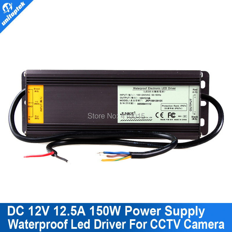 ФОТО 12V 12.5A LED Driver or CCTV Power Supply Adapter Box Transformer WaterProof Isolated