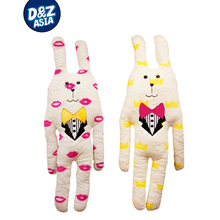 Hot selling CRAFTHOLIC lipstick and Crown rabbit Gentleman suit ultra-plush pillow doll cute