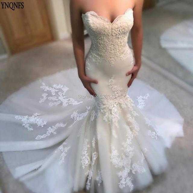 2dcfb3d9a5 YNQNFS W22 Real Vestido de Noiva Simples Trumpet Mermaid Wedding Dresses  Party Gowns Bridesmaid Dresses Vestidos 2019