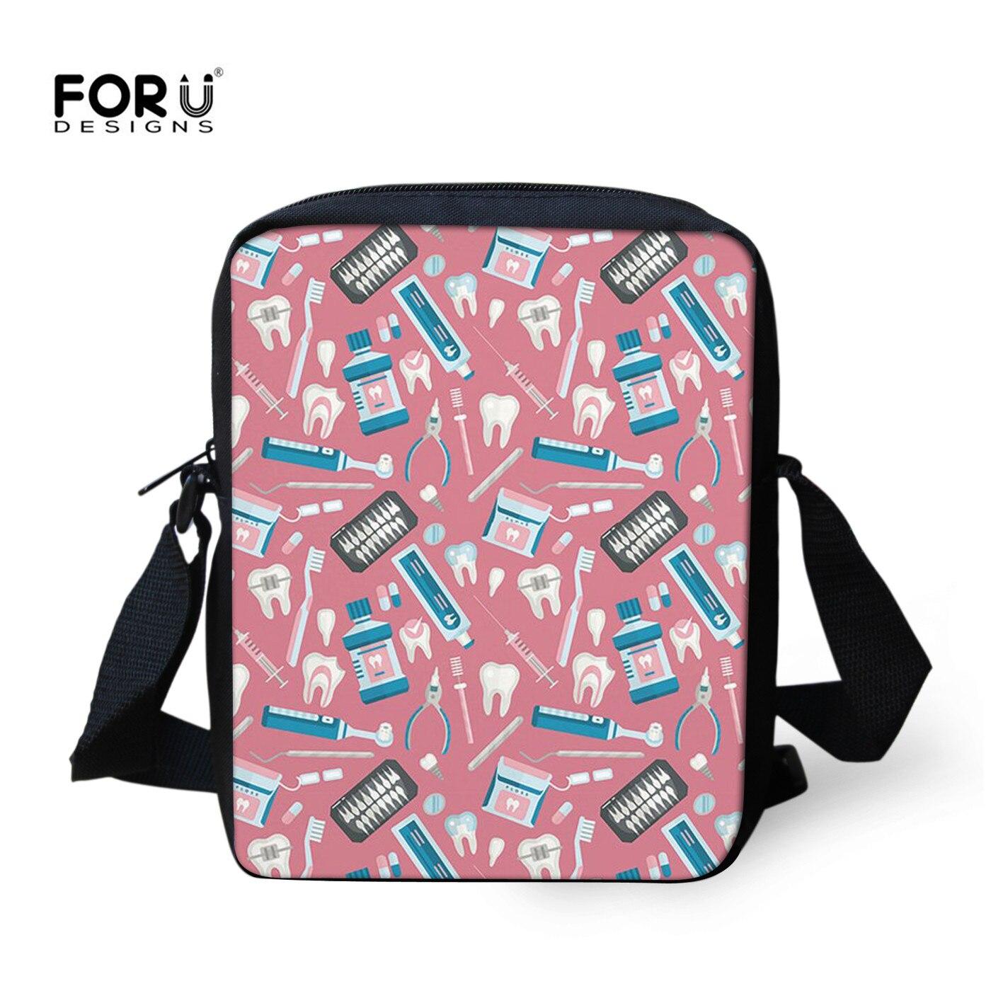 FORUDESIGNS Doctor Womens Handbag Pink Cartoon Printing Cross Body Bag For Kids Boys Girls Cute Travel Summer Children Handbag