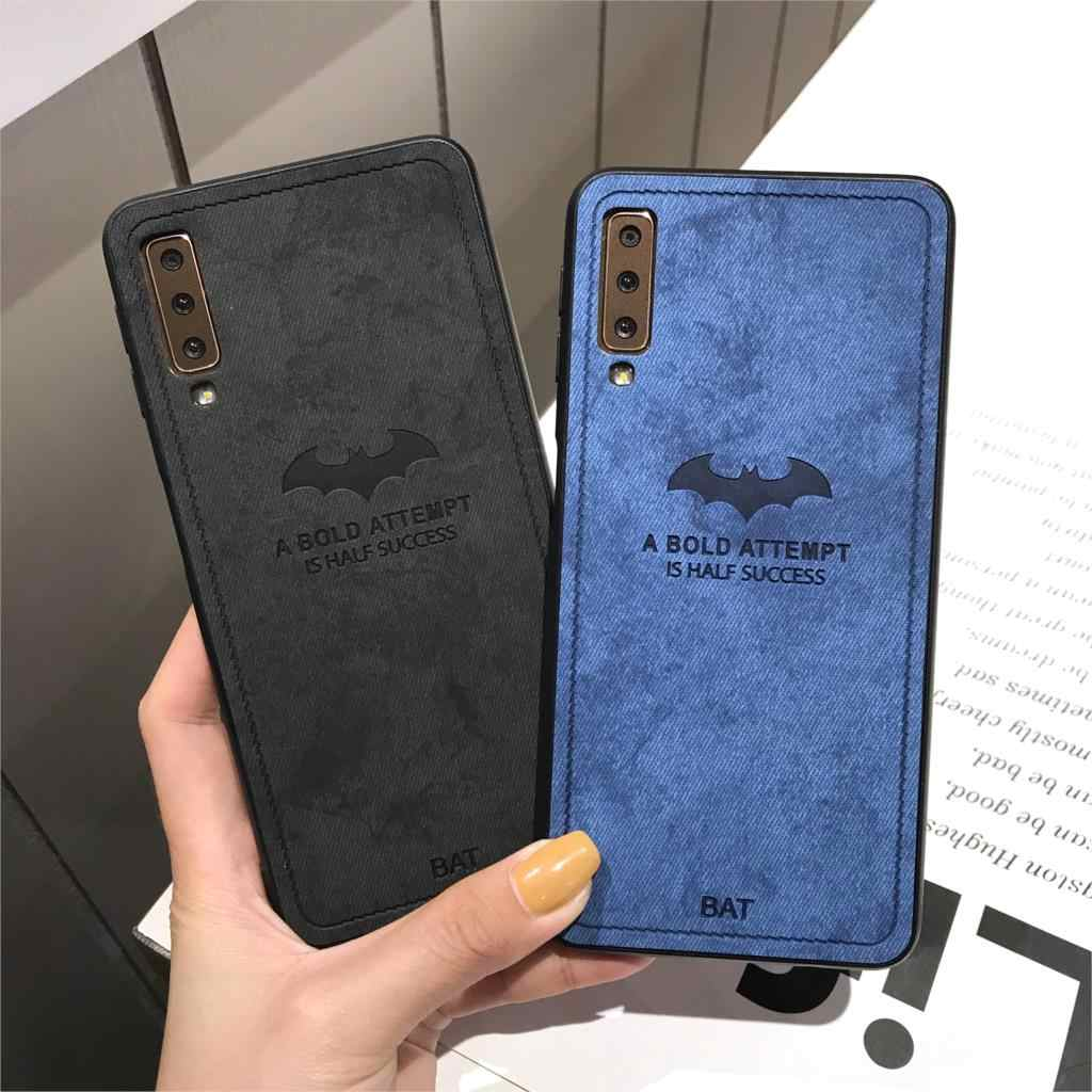 bat Cloth Case For Huawei Honor 10 Lite 9 8 7C Y6 Prime Y7 Y9 2018 P Smart 8X Note 10 Play Cover Leather + Silicone Bumper Case