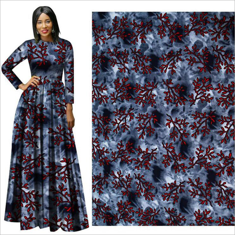 Dress Hollandais Wax Wax-Fabric Print Cloth African Red Suit Flower DIY Me-Dusa High-Quility