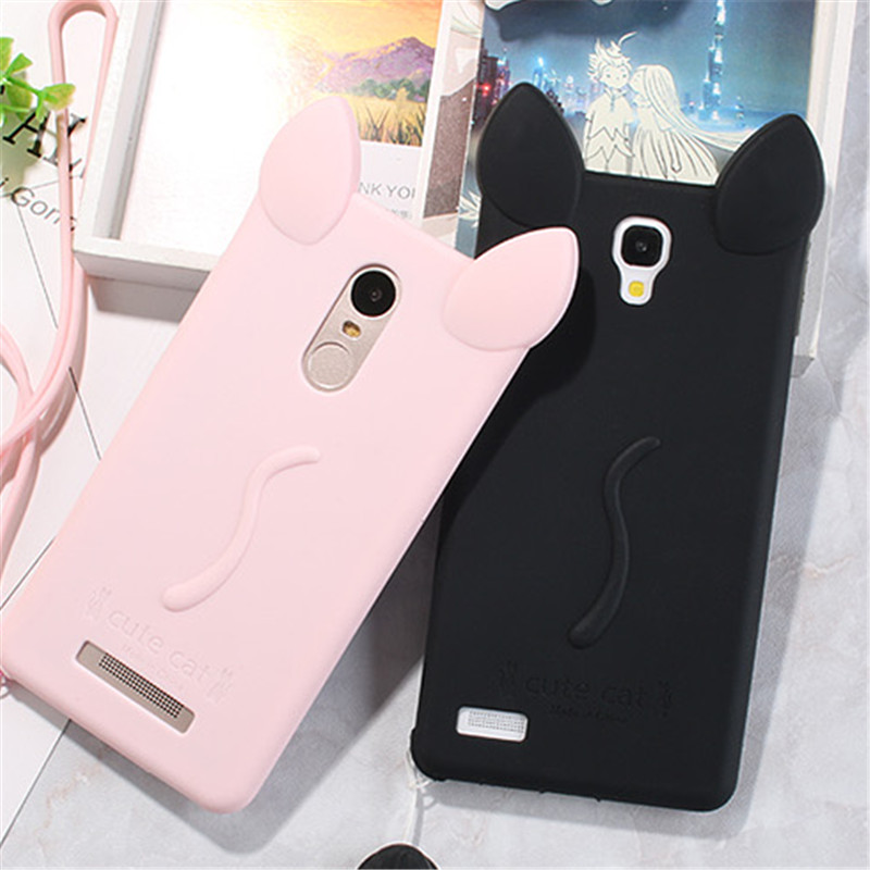 quality design eca95 80afb US $3.63 9% OFF|Xiaomi Redmi Note 4X Case Cover Cute 3D Cat Ear Cartoon  Soft Silicone Gel Cover For Xiaomi Redmi Note 4 Pro Prime Coque 5.5 inch-in  ...