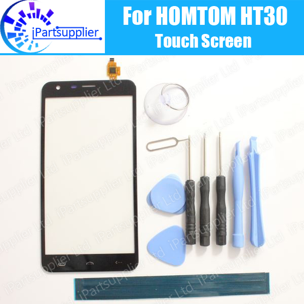 HOMTOM HT30 Touch Screen Panel 100% Guarantee Original Glass Panel Touch Screen Glass Replacement For HOMTOM HT30 +tool+Adhesive