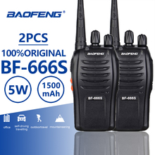 2pcs Baofeng BF-666S Handheld Walkie Talkie Portable BF 666S Two-way Radio Amador Handy Radios De Comunicaciones BF-888s