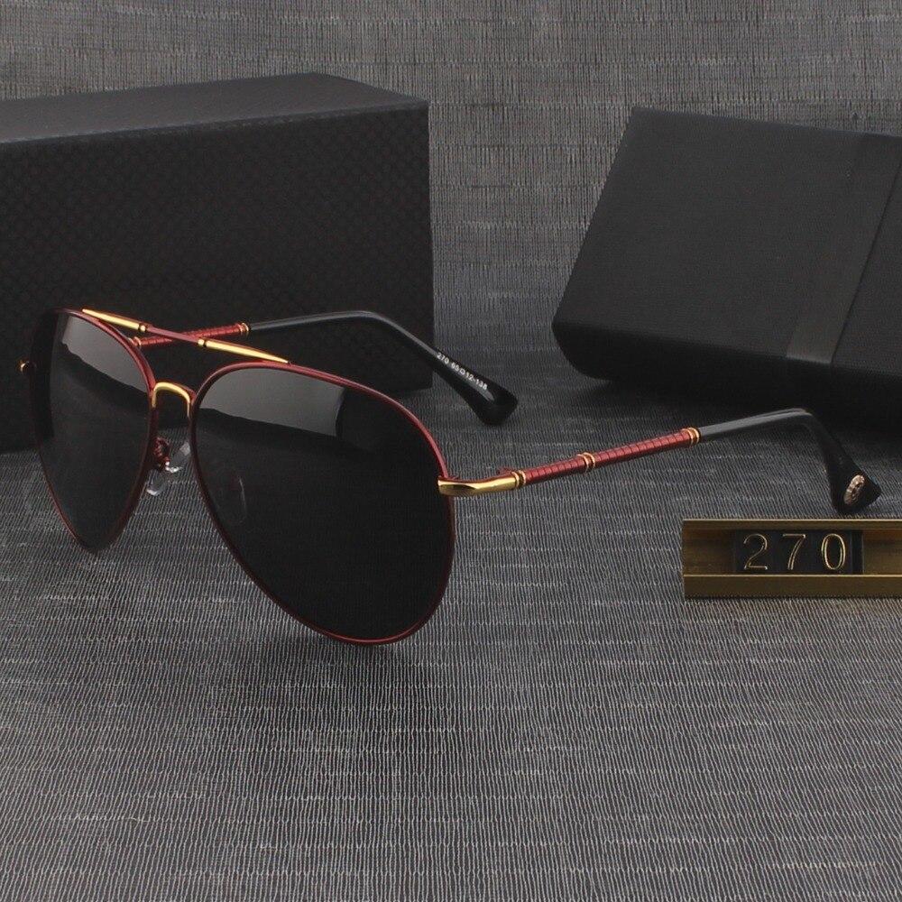 HD lunettes de soleil polarisées hommes 2018 marque de luxe designer miroir  vintage lunettes de soleil 9ed637376bf2