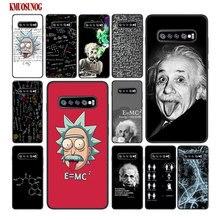 For Samsung Galaxy M30 M20 M10 Note 9 8 S10 S10e S9 S8 Plus S7 S6 Edge Black Silicone Case Math Albert Einstein Style