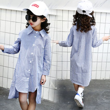 Fashion Autumn Girls Blouses Casual Long Sleeve Cotton Striped Shirts  Baby Kids Clothes Loose Child Tops Toddler Girls Vestidos girls plaid blouse 2019 spring autumn turn down collar teenager shirts cotton shirts casual clothes child kids long sleeve 4 13t