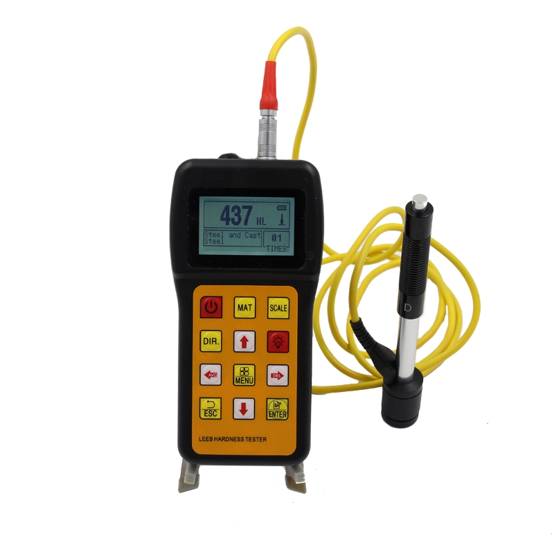 Portable Rebound Leeb Hardness Tester Metal Alloy Hardness Tester Hardness Measuring HRC HL HB HV HS HRB LCD Durometer Data Hold