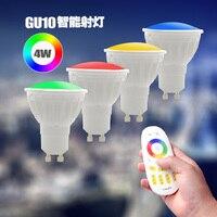 Milight AC86 265V 4W GU10 RGB CCT LED Dimmable 2 4G Wireless Milight Led Bulb Led