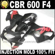 Литья под давлением комплекты для HONDA CBR 600 F4 зализах 1999 2000 CBR600 99 00 розовый черный зализа комплект пластиковые детали S9