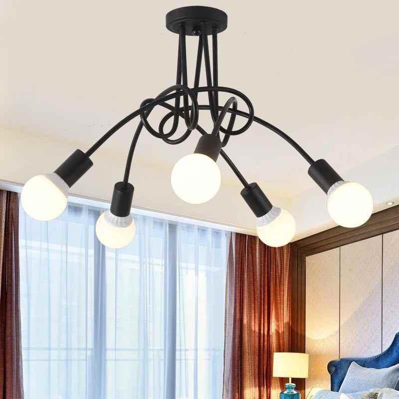 QUXIA Anhänger Lichter LED E27 Eisen Kunst Tornado Decke Lampe Nordic Vintage Ländlichen Loft Industrie Esszimmer Wohnzimmer Licht