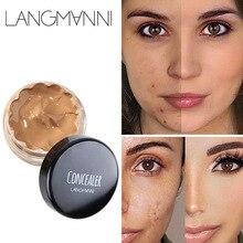 Langmanni 12ml Concealer Beauty Face Makeup Professional Hide Blemish Make Stick Foundation Full Cover Base