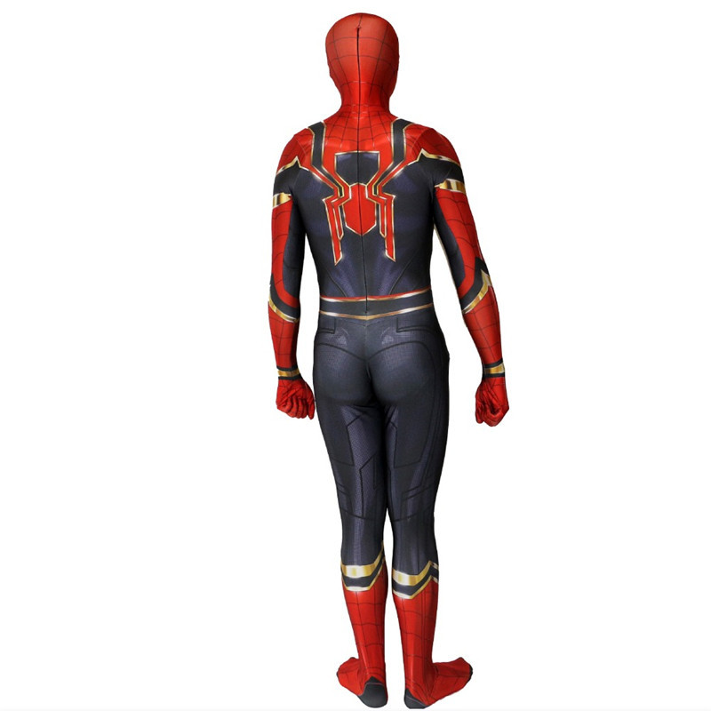Ainiel Homecoming Iron Spider man Cosplay Costume Superhero Zentai Avengers: Infinity War Spiderman Bodysuit Suit Jumpsuits Boy