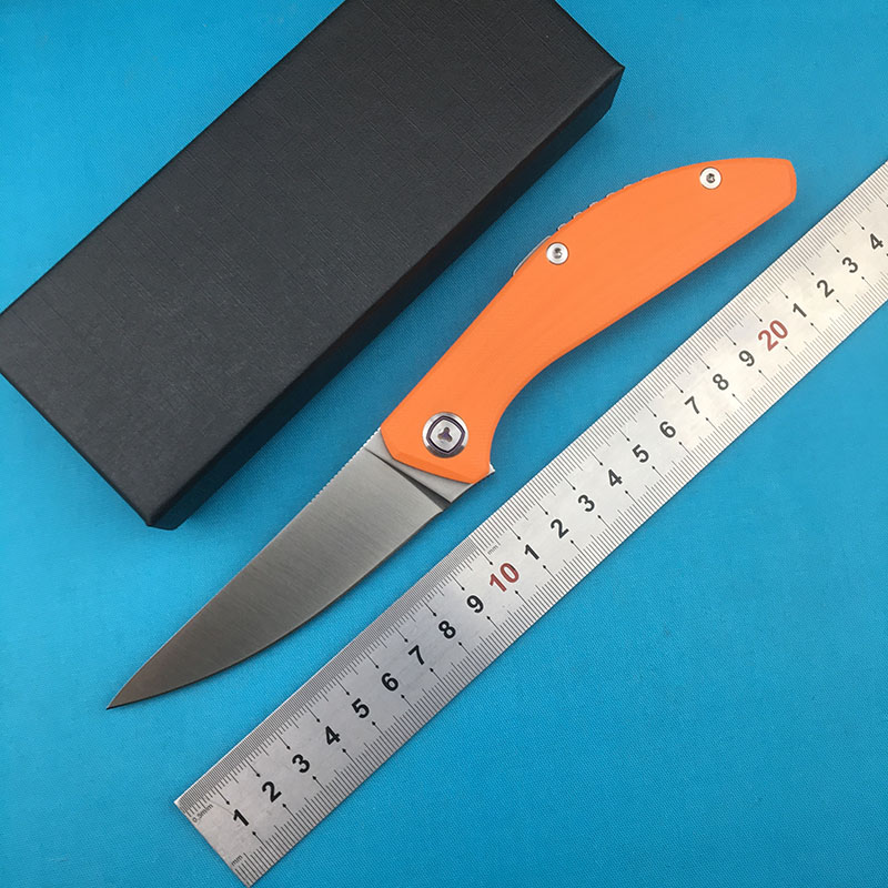 LOVOCOO SIGMA quality fin folding knife D2 blade G10 handle hunting camp survival knife EDC tool in Knives from Tools