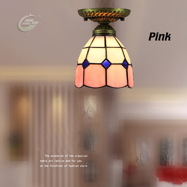ФОТО Handmade Stained Glass Mediterranean Style Home Decoration Light Fixture Ceiling Lamps YSL-TFC01PK,Free Shipping