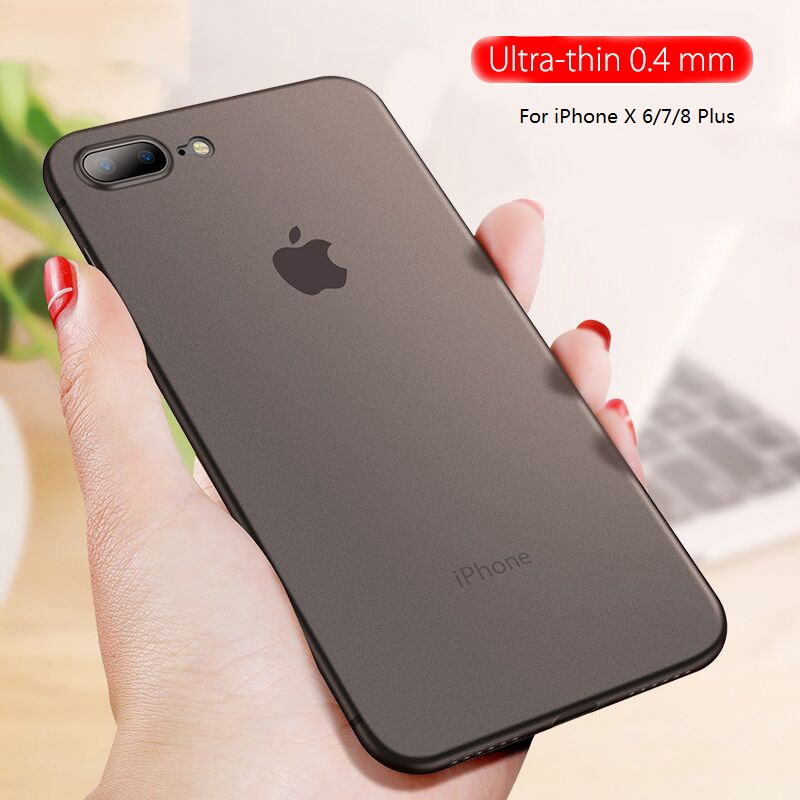 Ultra Thin Protection Case For iPhone 7 6 6s Plus 8 Slim Matte Cover Cases For iPhone X 7 8 Plus 6 6s Phone Back Case Shell