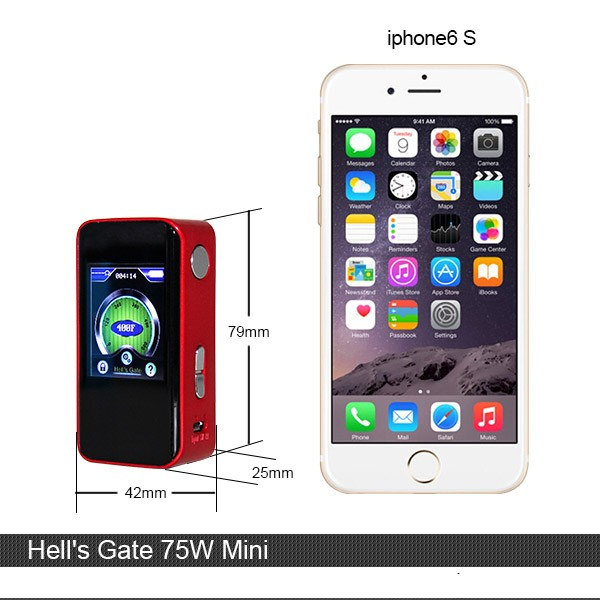 Authentic Hells Gate II 75W TC Mod Yep Mini Temperature Control Box Mod with Large TFT Display Built in 2400mAh Hell's Gate president lincoln ii asc mod
