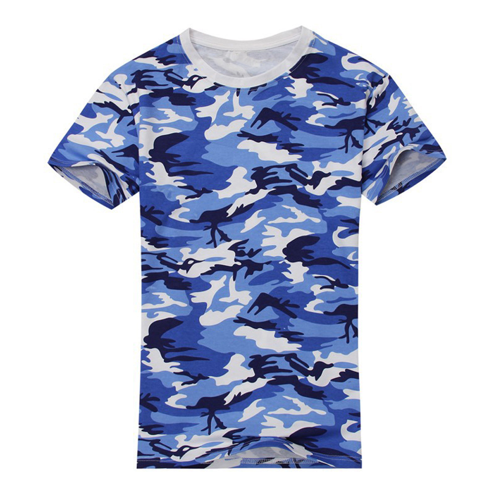 Online buy wholesale blue camo shirt from china blue camo for Camouflage t shirt design