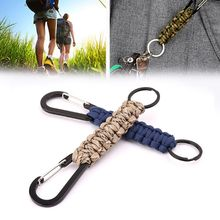 1 Pc EDC Climb Keychain Tactical Outdoor Survival Tool Carabiner Hook Parachute Cord