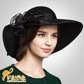 Fashion 2016 New Arrival Ladies' Satin Dress Hat Church Hat Formal Hat For Women Winter Fashion Dress New Wide Brim Hat  B-3185
