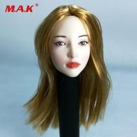 1/6 Blond hair female pale head sculpt for Phicen Tbleague figure body model